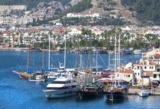 Turkey`s Marmaris Resort Town Yachts Royalty Free Stock Photography