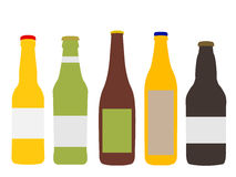 Different Kinds of Beer Bottles Stock Image