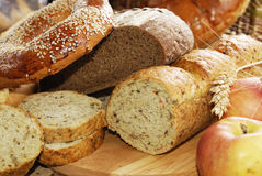 Different kinds of bread Stock Photos