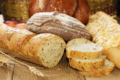 Different kinds of bread Royalty Free Stock Photos