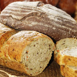 Different kinds of bread Royalty Free Stock Images
