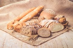 Assorted bread and pastry stock photo