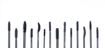 Different kinds of brushes of mascara, Stock Image