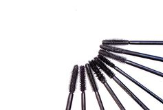 Different kinds of brushes mascara, Stock Images