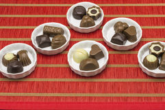 Different kinds of chocolates Stock Image
