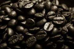 Different kinds of coffee on wooden plate. Selective focus. Tone Stock Photography