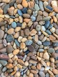 Different Kinds, Colours, Shapes and Sizes of Gravels royalty free stock images