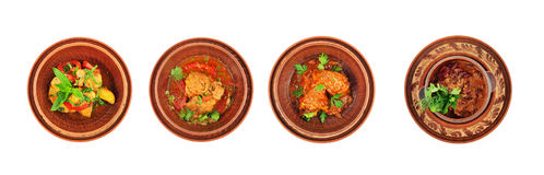 Different kinds of dishes of Caucasian cuisine. Royalty Free Stock Image