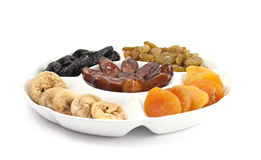 Different kinds of dried fruits Stock Image