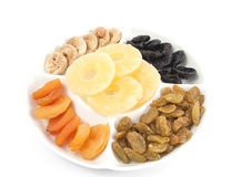 Different kinds of dried fruits Stock Photos
