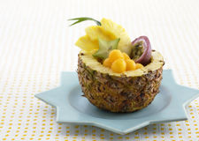Different kinds of exotic fruits set as desserts Stock Photos