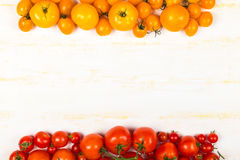 Different kinds of fresh tomatoes Royalty Free Stock Image