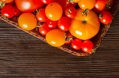 Different kinds of fresh tomatoes Stock Photo