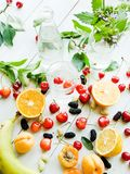 Fruits and berries background stock image