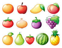 Different kinds of fruits Royalty Free Stock Photos