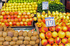 Different kinds of fruits for sale Royalty Free Stock Photo