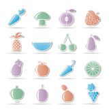 Different kinds of fruits and Vegetable icons Stock Photo