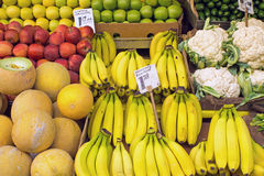 Different kinds of fruits and vegetables Royalty Free Stock Photo