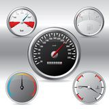 Different kinds of gauges Royalty Free Stock Images