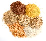Different kinds of grain royalty free stock image