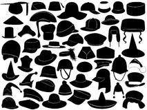 Different Kinds Of Hats Royalty Free Stock Image