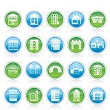 Different kinds of houses and buildings Royalty Free Stock Image