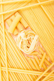 Different kinds of italian pasta Stock Images