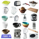 Different kinds of kitchen appliances and ware royalty free stock image