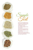 Different kinds of legumes Royalty Free Stock Photography