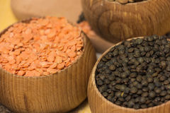 Different kinds of lentils Royalty Free Stock Image