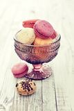 Different kinds of macaroons Stock Photo