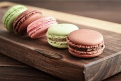 Different kinds of macaroons Royalty Free Stock Image