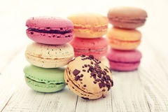 Different kinds of macaroons Royalty Free Stock Photo