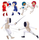 Different kinds of martial arts Royalty Free Stock Image