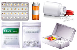 Different kinds of medicine Stock Images