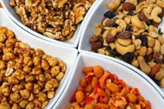 Different kinds of nuts as a salty snack Stock Image