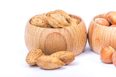Different kinds of nuts Stock Images