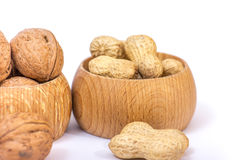 Different kinds of nuts Royalty Free Stock Photography