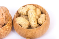 Different kinds of nuts Stock Image