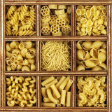 Different Kinds Of Italian Pasta Royalty Free Stock Photos