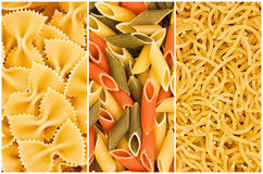 Different Kinds Of Pasta Royalty Free Stock Images