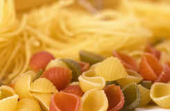 Different Kinds Of Pasta Background Royalty Free Stock Image