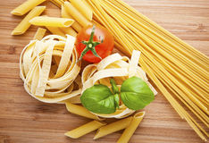 Different kinds of pasta Stock Image
