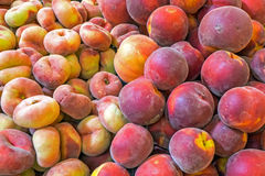 Different kinds of peaches Royalty Free Stock Image