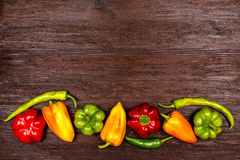 Different kinds of pepper Stock Photography