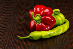 Different kinds of pepper Stock Image