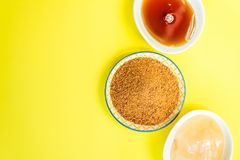 Different Kinds of Sugar and Sweeteners in the Bowls Stock Photos