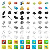 Different kinds of tents cartoon icons in set collection for design. Temporary shelter and housing vector symbol stock. Illustration royalty free illustration