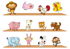Different kinds of toy animals Stock Photo