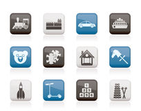 Different Kinds of Toys Icons Stock Image